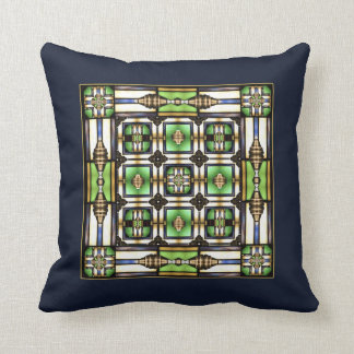 Arts and Crafts Glass Style Throw Pillow
