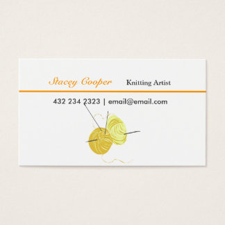 Arts and Crafts Knitting  Artist Spun Yarn Business Card