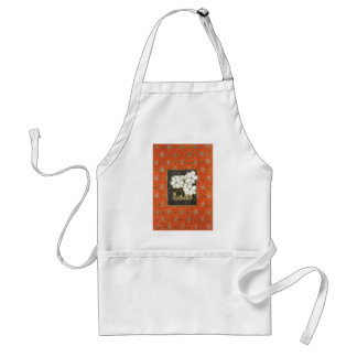 Arts and crafts style book cover with flowers apron