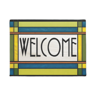 Arts and Crafts Style Welcome Mat