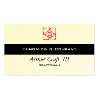 Arts & Crafts Ornament (flower) Business Card Template