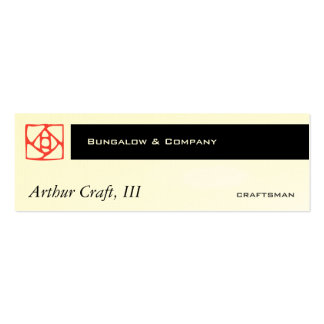 Arts & Crafts Ornament (flower) Pack Of Skinny Business Cards