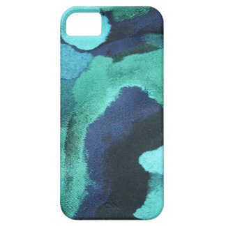 ARTSY ABSTRACT FLORAL PATTERN in BLUE/GREEN Case For The iPhone 5