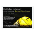 Artsy Adult Camp Out Birthday Party Invitation