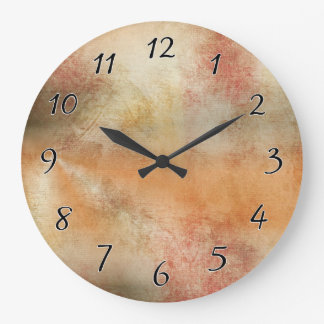 Artsy Autumn Abstract Large Clock