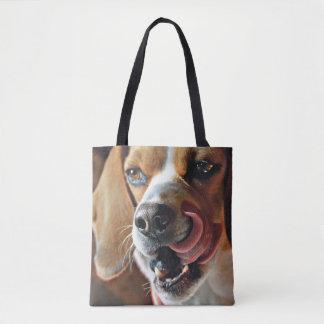 Artsy Beagle Finishing A Snack Tote Bag