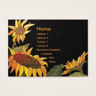 Artsy Bold Hip Sunflower Business Cards