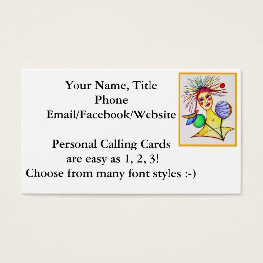 Artsy business card customise trendy fun colourful zazzle for Artsy business cards
