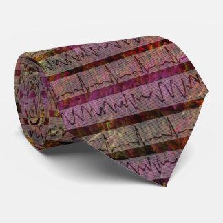 Artsy Cardiac Rhythm Impressionist Tie