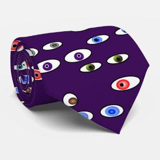 Artsy Eye Balls Optometrist Purple Tie