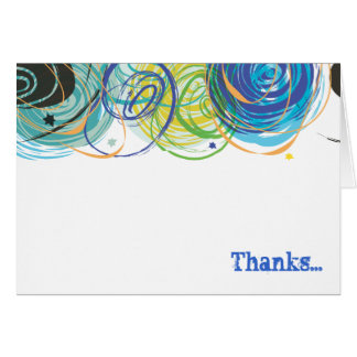 ARTSY FARTSY Bar Bat Mitzvah Thank You Card