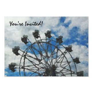 Artsy Ferris Wheel Invitation