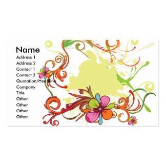 artsy floral bliss vector design business cards