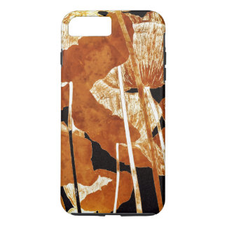 Artsy Floral Design Gold Poppies on Black iPhone 8 Plus/7 Plus Case
