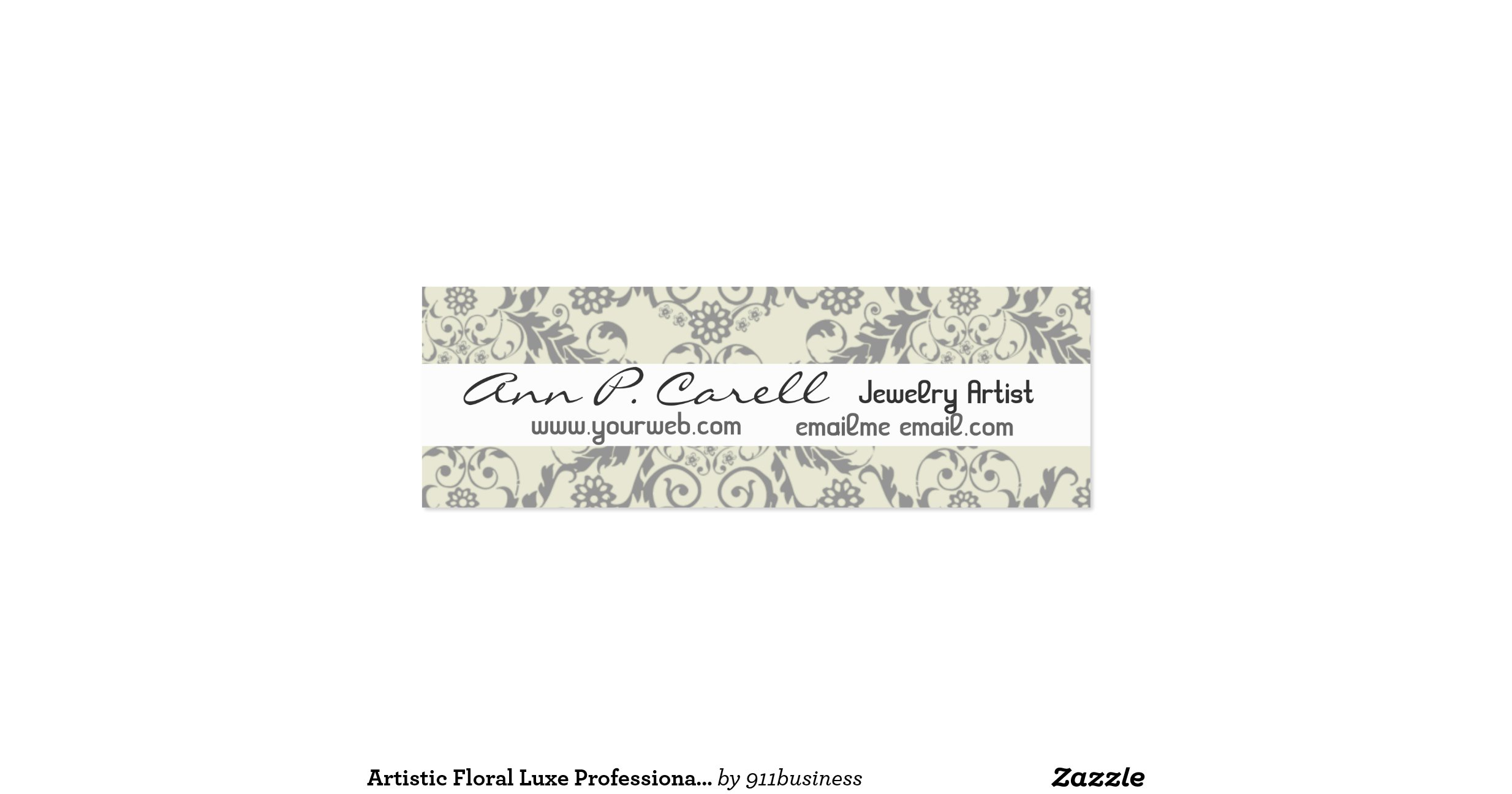 Artsy Florals Pack Of Skinny Business Cards : Zazzle