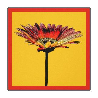Artsy Gerbera Daisy Watercolor Gallery Wrapped Canvas