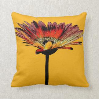 Artsy Gerbera Daisy Watercolor Throw Pillow
