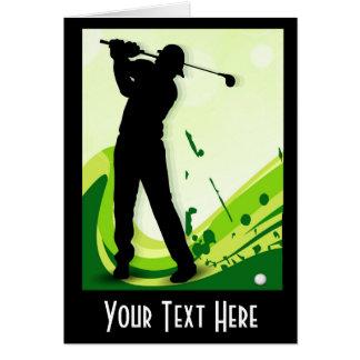 Artsy Golf Player Card