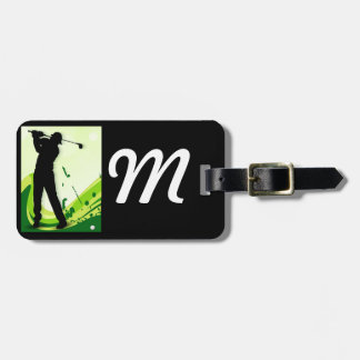 Artsy Golf Player Luggage Tag