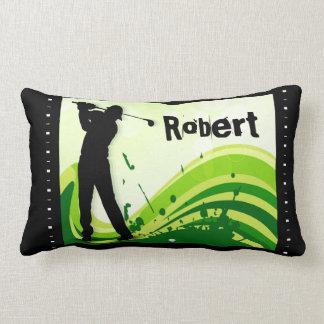 Artsy Golf Player Lumbar Pillow