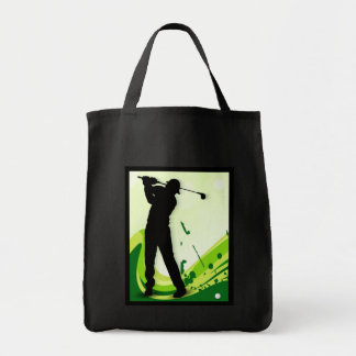 Artsy Golf Player Tote Bag