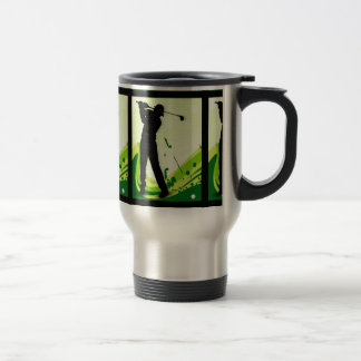 Artsy Golf Player Travel Mug