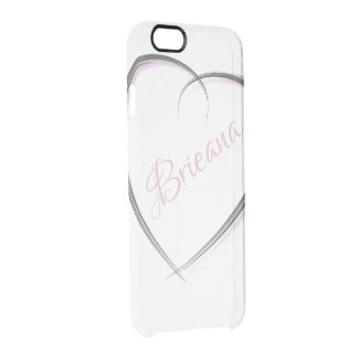 Artsy Heart | Personalized Name Clear iPhone 6/6S Case