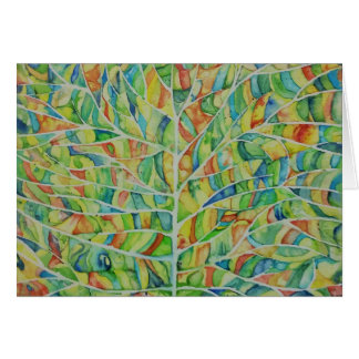 Artsy Leaf Watercolor Greeting Card