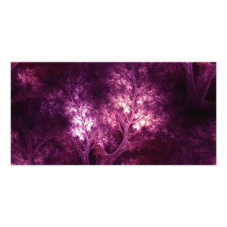 artsy_magenta_trees customised photo card