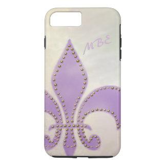 Artsy Mardi Gras Purple Fleur de Lis iPhone 7 Plus Case