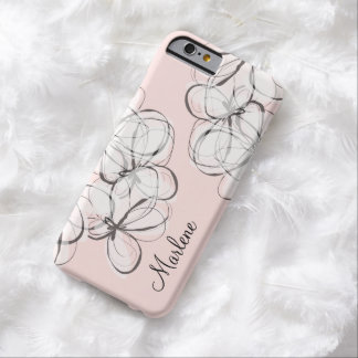 Artsy Modern Monogram Barely There iPhone 6 Case
