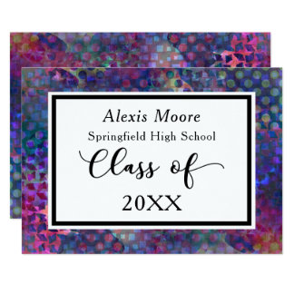 Artsy, Multicolored Graduation Announcement