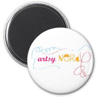 Artsy Nerd Doodle Button Fridge Magnets
