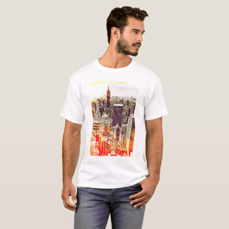 Artsy New York Skyline T-shirt