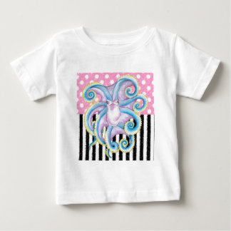 Artsy Octopus Pink Baby T-Shirt