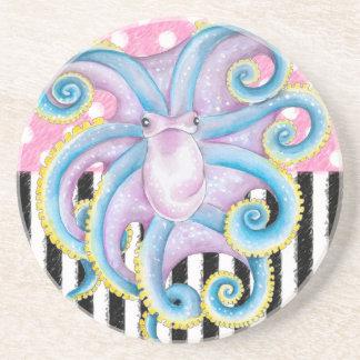 Artsy Octopus Pink Coaster