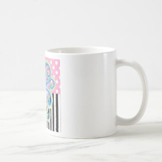 Artsy Octopus Pink Coffee Mug