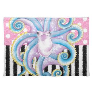 Artsy Octopus Pink Placemat