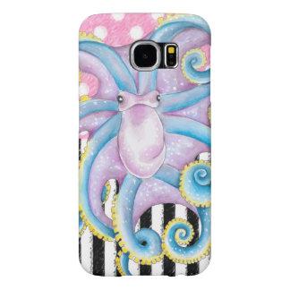 Artsy Octopus Pink Samsung Galaxy S6 Cases