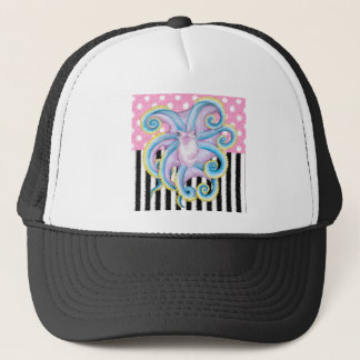 Artsy Octopus Pink Trucker Hat