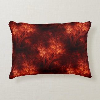 Artsy Orange Trees Decorative Cushion