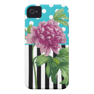 Artsy Peony Blue iPhone 4 Case-Mate Cases