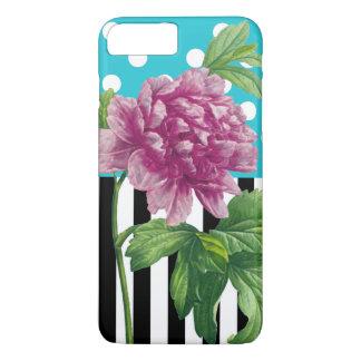 Artsy Peony Blue iPhone 8 Plus/7 Plus Case