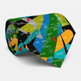 Artsy Pharmacist's Abbreviations Tie Abstract 19