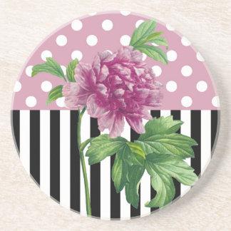 Artsy Pink Peony Coaster