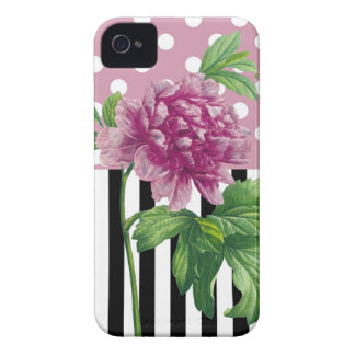 Artsy Pink Peony iPhone 4 Case-Mate Case