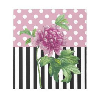 Artsy Pink Peony Notepad