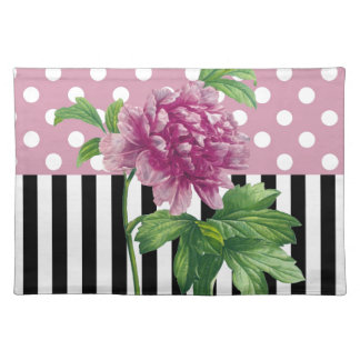 Artsy Pink Peony Placemat