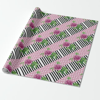 Artsy Pink Peony Wrapping Paper
