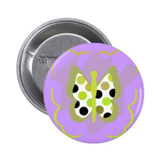 Artsy Polka Dot Butterfly Button